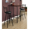 Brio Half Racetrack Top Pub Table - Cappuccino, Black Metal - MNRH-I-2345