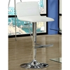 Aeon Adjustable Height Stool - Low Backrest, White (Set of 2) - MNRH-I-2365