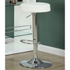 Laureate Adjustable Height Stool - Backless, White (Set of 2) - MNRH-I-2368