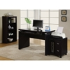 Arya Computer Desk - Cappuccino, Pull-Out Keyboard Tray - MNRH-I-7003