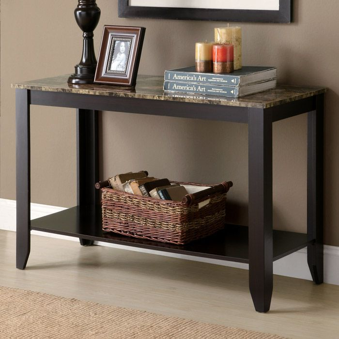 Meissner Sofa Table - Bottom Shelf, Cappuccino Finish - MNRH-I-7983S
