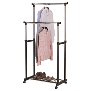 Garment Rack-03 - Adjustable Height, Chrome