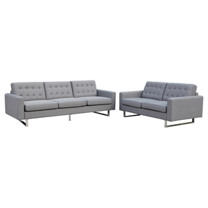 Beneva Sofa and Loveseat - Gray