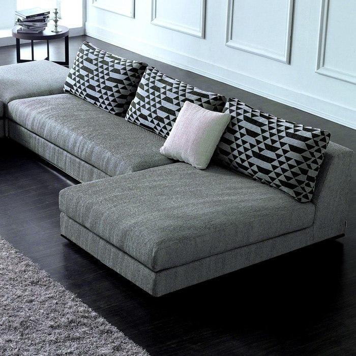 Sectional Gray Sofa Set: Annabella Chaise Sectional Sofa Set