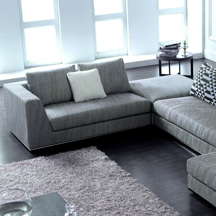 Sectional Gray Sofa Set: Annabella Chaise Sectional Sofa Set