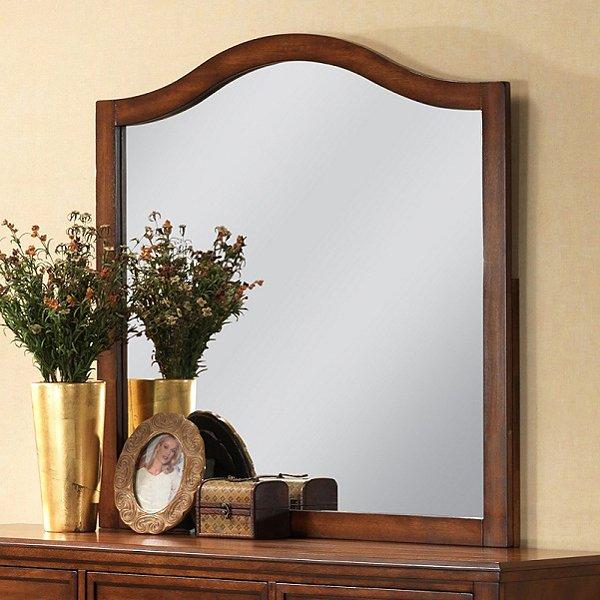 Auckland Arched Mirror Hardwood Frame Antique Oak Finish DCG Stores