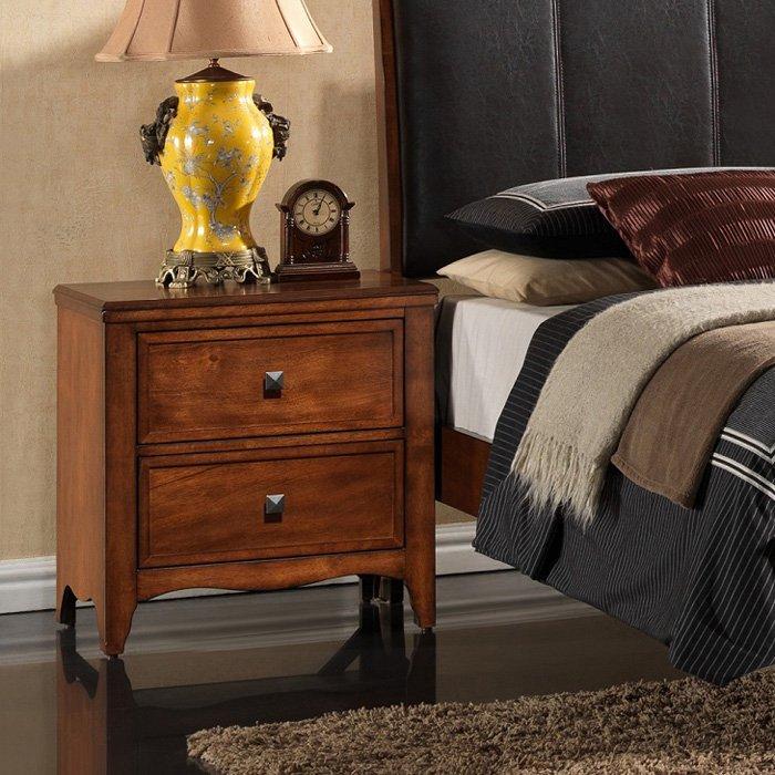 Auckland 2 drawer nightstand hardwood antique oak for Furniture auckland