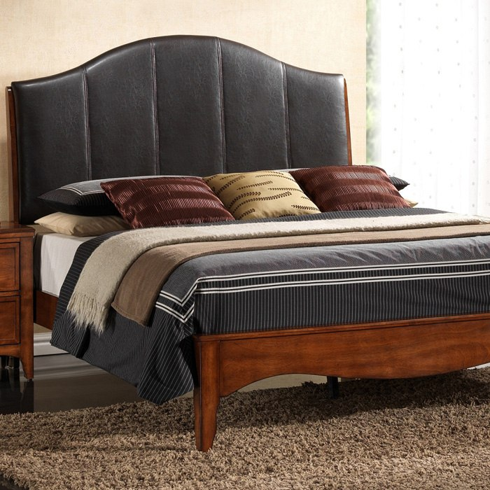 Auckland Queen Platform Bed Upholstered Headboard DCG Stores