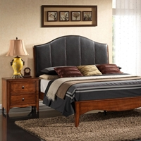 Auckland 5 Piece Queen Bedroom Set - Platform Bed, Antique Oak