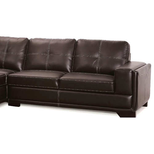 Avery sectional sofa brown leather left facing chaise for Brown leather sofa with chaise lounge
