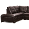 Avery Sectional Sofa - Brown Leather, Left Facing Chaise - NSI-435001L