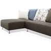 Blossom Sectional Sofa - Brown Fabric, Left Facing Chaise - NSI-421005L