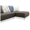 Blossom Sectional Sofa - Brown Fabric, Right Facing Chaise - NSI-421005R