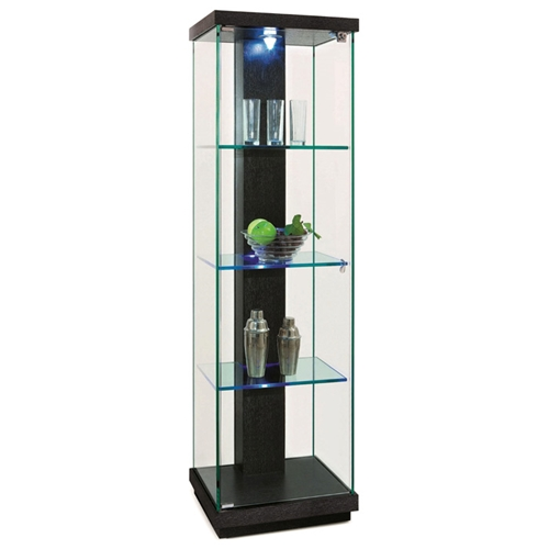 marcel lighted display curio hardwood glass dcg stores. Black Bedroom Furniture Sets. Home Design Ideas
