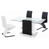Brent Z-Shaped Dining Chair - Chrome Base, Black - NSI-425005