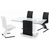 B Z Shaped Dining Chair Chrome Base Black Nsi 425005
