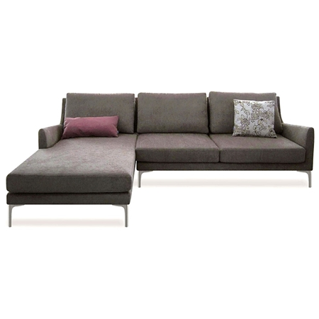 Chicago sectional sofa sandstone fabric left facing for Sectional sofas left facing chaise