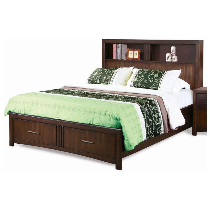 ... Edison 5 Piece Bedroom Set   Storage Bed, Java Oak, Queen   NSI  ...