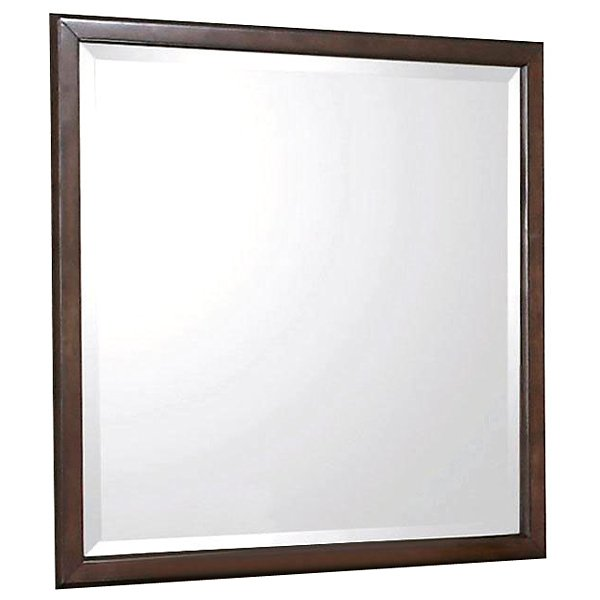 Edison Square Beveled Mirror - Java Oak Frame - NSI-516002BM
