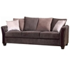 Madison Sofa & Loveseat - Dark Brown Fabric, Wood Legs - NSI-437001