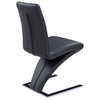 B Z Shaped Dining Chair Chrome Base Black Nsi 425005