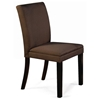 Carrick Side Chair - Hardwood Legs, Brown Microfiber - NSI-517007
