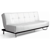 Beck Modern Convertible Sofa - Tufted, White | DCG Stores