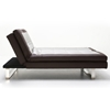 Seth Modern Convertible Sofa - Tufted, Brown & Silver - NSI-427023