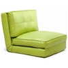 Brianna Sleeper Chair - Tufted, Folding, Single Bed, Green - NSI-427012