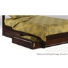 Rosebud Platform Bed with Basic Footboard - NDF-ROSEBUD-BASIC