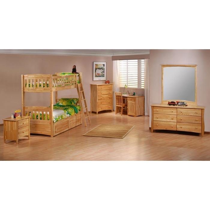Cinnamon Twin Bunk Bed Natural Finish NDF CIN NA