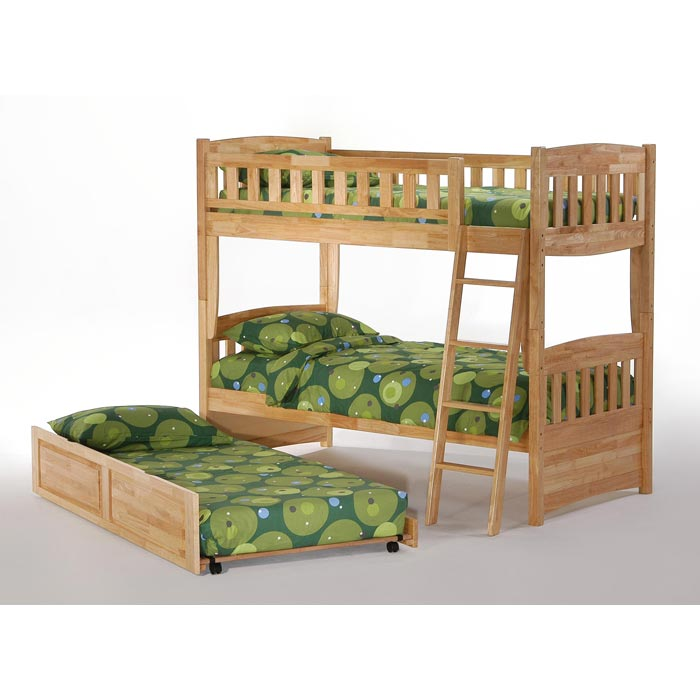 Night And Day Cinnamon Twin Bunk Bed