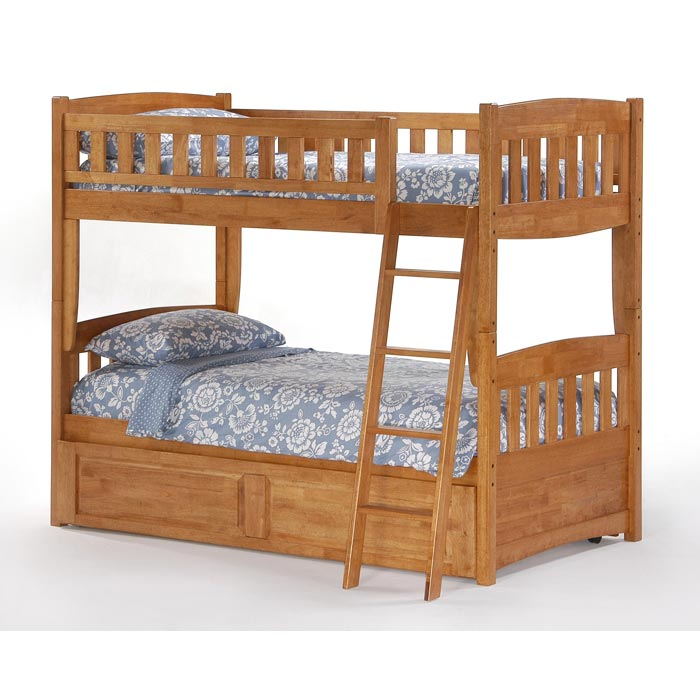 Cinnamon Bunk Bed With Optional Rolling Twin Trundle