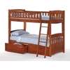 Cinnamon Twin Bunk Bed - Cherry Finish - NDF-CIN-CH