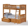 Cinnamon Twin Bunk Bed - Medium Oak - NDF-CIN-MO