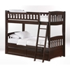 Cinnamon Twin Bunk Bed - Chocolate Finish - NDF-CIN-CHO