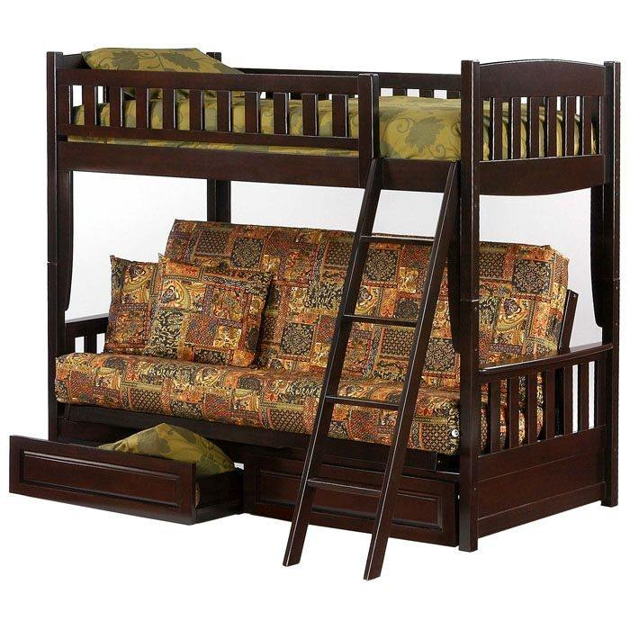 Cinnamon Twin Over Full Futon Bunk Bed - NDF-CIN-FB