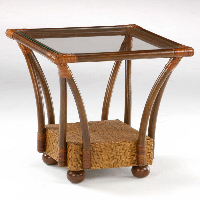Tulip Rattan End Table