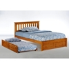 Rosemary Platform Bed with Footboard Panel - NDF-ROSEMARY