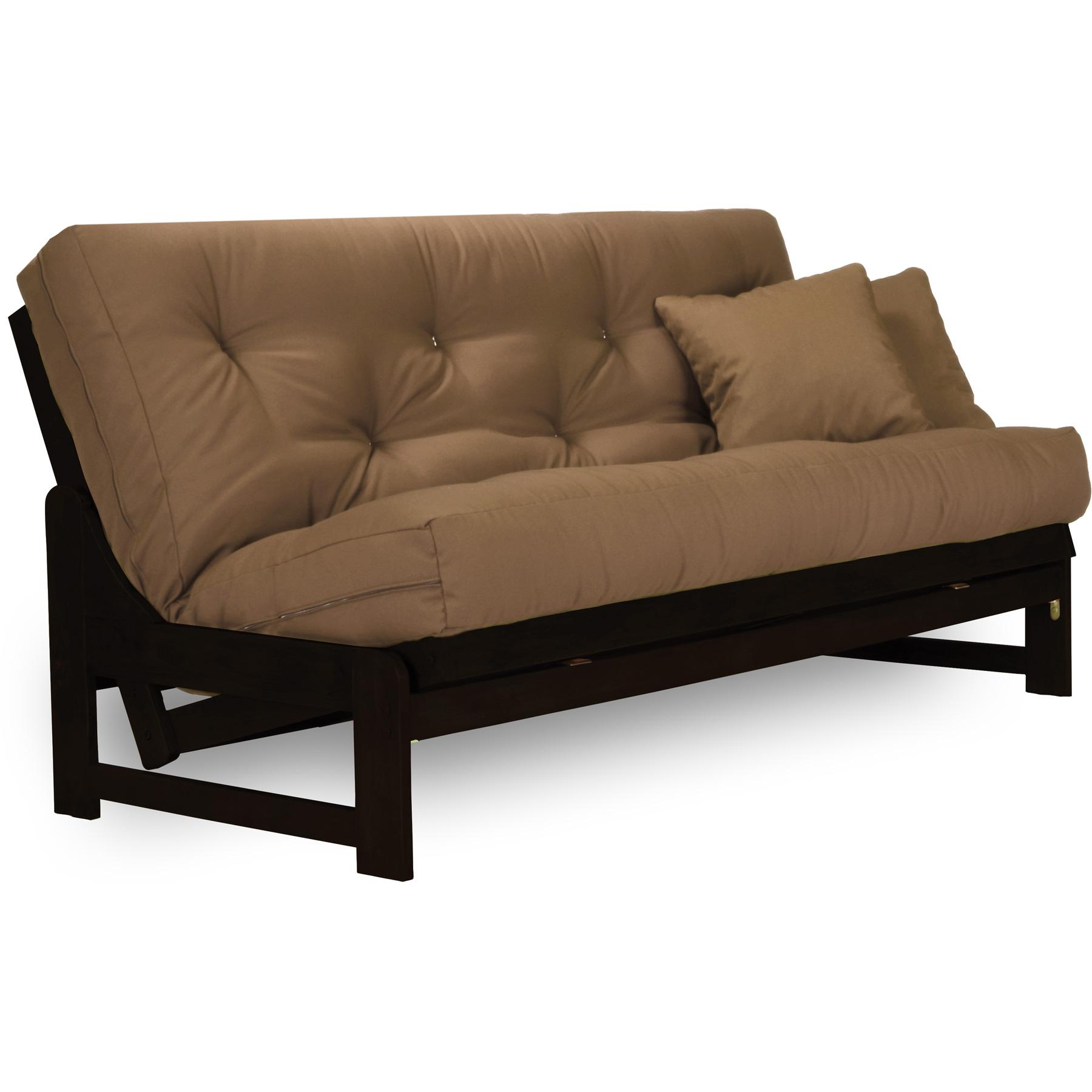 armless arden espresso  plete sit and sleep futon set   wood frame mattress options     armless arden espresso  plete sit and sleep futon set   wood      rh   dcgstores