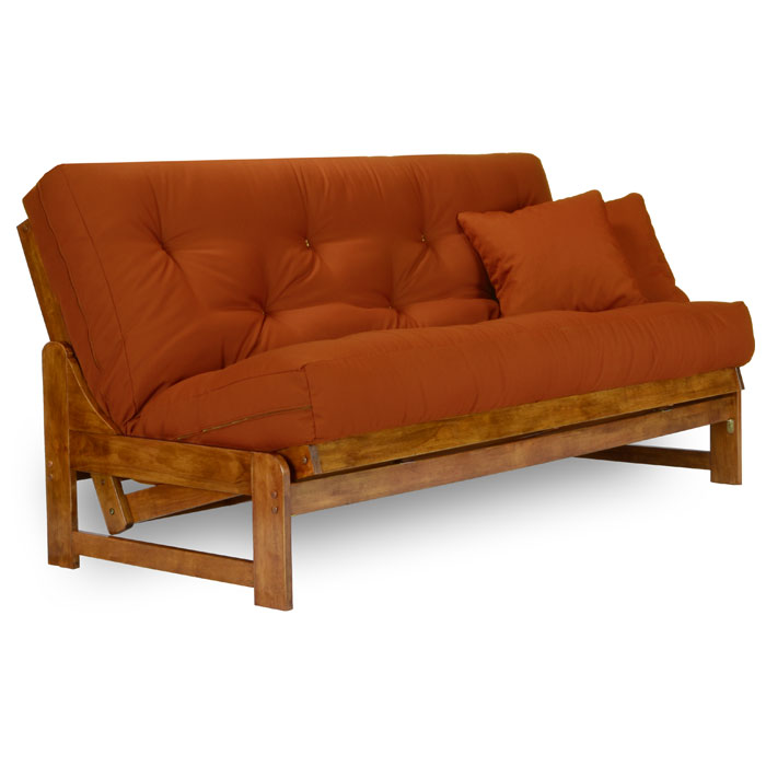 Arden wood futon frame armless heritage dcg stores for Wood futon frames free shipping