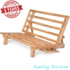promo code ef3b3 c5ac8 Tri-Fold Futon Lounger - Solid Wood Frame, Natural Finish