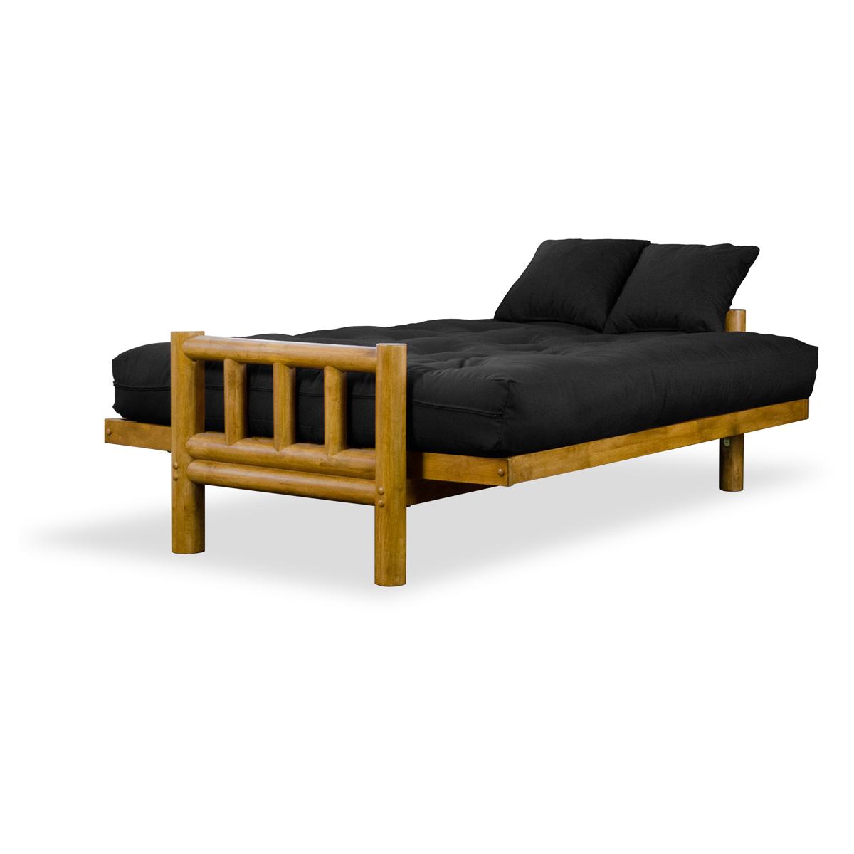 tahoe log futon frame and mattress set   heritage finish   nf tlog set     tahoe log futon frame and mattress set   heritage finish   dcg stores  rh   dcgstores