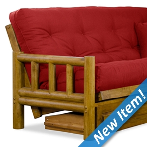 Tahoe Log Futon Frame and Mattress Set - Heritage Finish