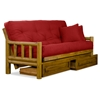 Tahoe Log Futon Frame And Mattress Set Heritage Finish