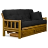 ... Tahoe Log Futon Frame and Mattress Set - Heritage Finish - NF-TLOG-SET  ...