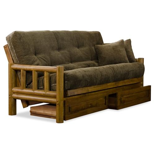 tahoe log futon set heritage designer mattress made in usa dcg stores. Black Bedroom Furniture Sets. Home Design Ideas