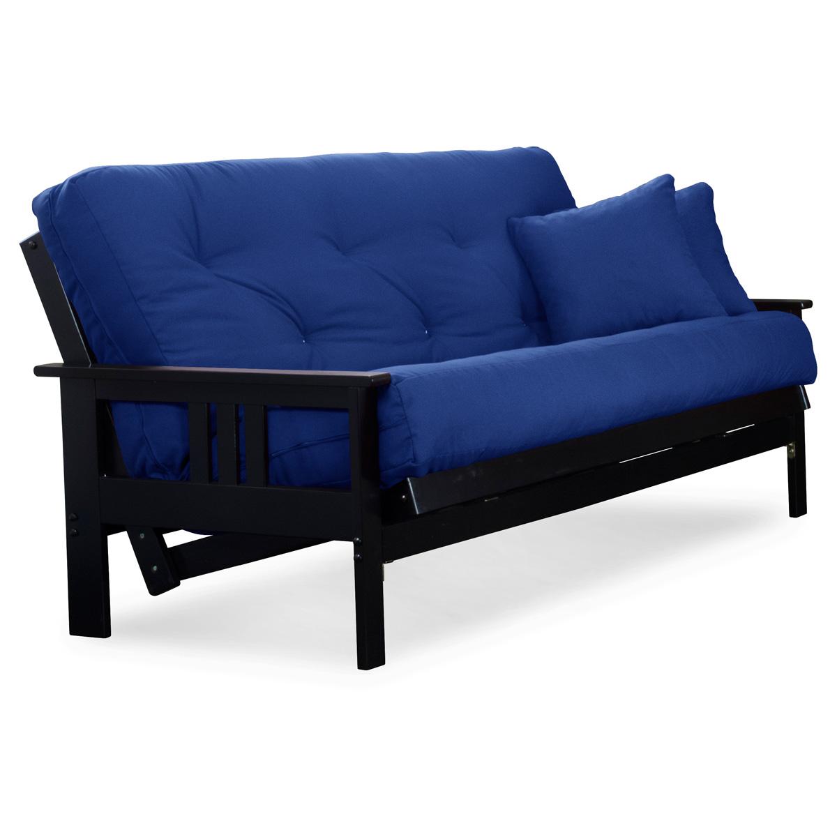 Orlando wood futon frame black finish full size dcg for World of futons futon frames