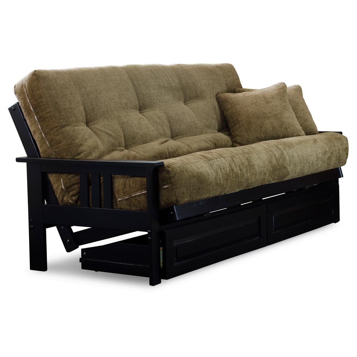 orlando full size wood futon set black designer. Black Bedroom Furniture Sets. Home Design Ideas