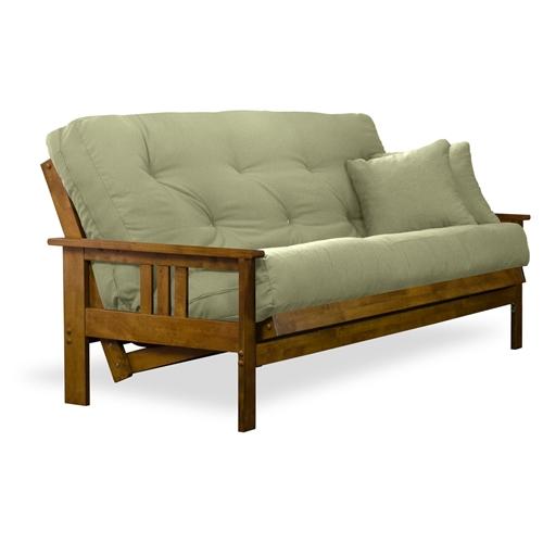 Orlando wood futon frame hertitage finish closeout sale for Wood futon frames free shipping